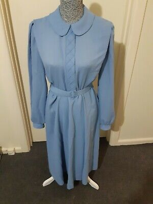 VINTAGE retro blue dress, Size 14