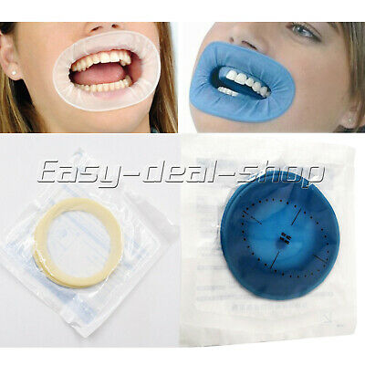 Dental Mouth Opener Disposable Cheek Retractor Rubber Dam Expanders Blue/White