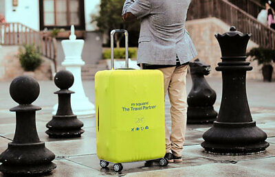 m square - 28' inch Thick Elastic Travel Suitcase Luggage Cover