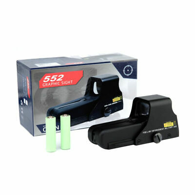 Adjustable Tactical Reflex Sight Red Green Dot Holographic AA Battery Scope