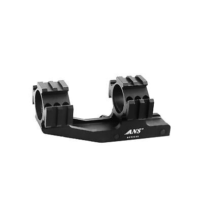 1 inch Tactical Cantilever Dual Flat Top Rings Rifle Scope Mount Picatinny Rail