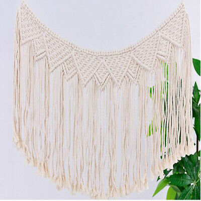 Bohemian Macrame Woven Wall Hanging Geometric Cotton Tapestry Home Decoration FY