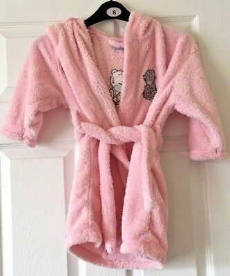 Girls Me To You Pink Dressing Gown Bath Robe Hooded Age 3-4 Years Next B50