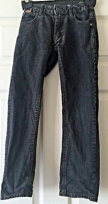 Boys Firetrap Black Straight Leg Jeans Size 8-9 Years B9