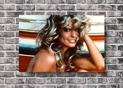 Farrah Fawcett Portrait Oil Painting Original Art Hand-Painted Canvas Not Print