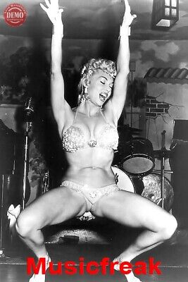 4x6 REPRINT Vintage Burlesque Dancer Lilly Christine 2