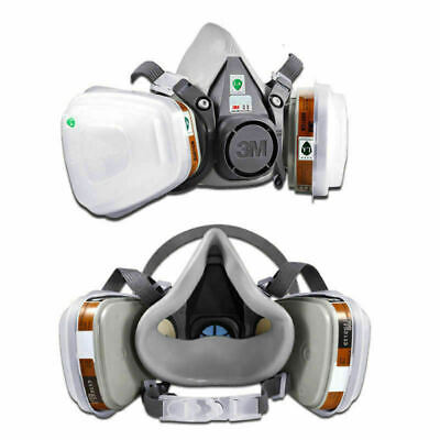 3M 7502 6200 Gas Mask Set Spray Paint Work Dust-proof Respirator Mask Filter UK