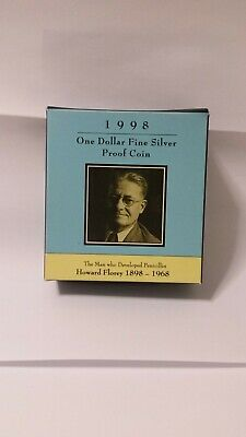 1998 One Dollar  Proof Coin - * Howard Florey* - In Box With Cert.