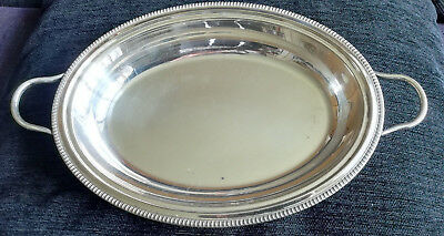 "VM49) EPNS tureen w handles and 4 shaped feet Squirrel Brand 1900-35 8.25"" x 11"""