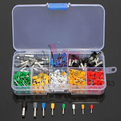 400PCS Wire Copper Crimp Connector Insulated Cord Pin End Terminal Kit