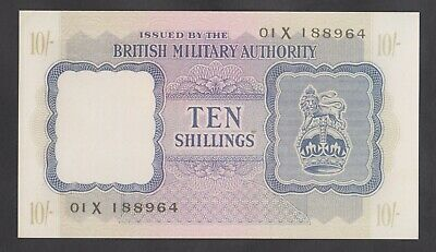 GREAT BRITAIN  10 Shillings ND 1943  UNC  WWII BMA  Letter X   REPRODUCTION
