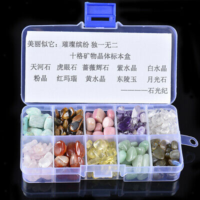 Set of 10 Rock Mineral Crystal Quartz Earth Science Toy Collectibles Gift