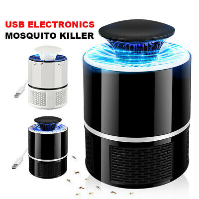 USB LED Electric Mosquito Zapper Killer Fly Insect Bug Trap Lamp Light Bulb Tool