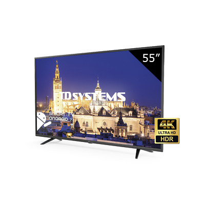 Televisor 55 Pulgadas Led Ultra HD Smart, TD Systems K55DLY8US. Wifi