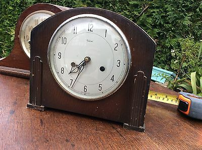 Federal Oak Mantel Clock Art Deco Period Project Barn Fresh