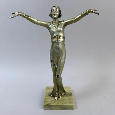 CLASSIC ART DECO AUSTRIAN COLD PAINTED SPELTER FIGURE 1930's
