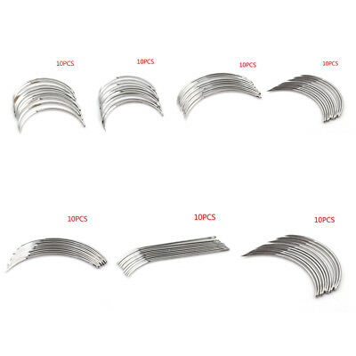 10Pcs/Lot Corner Medical Needle Suture Surgical Tool For Double Eyelid KW