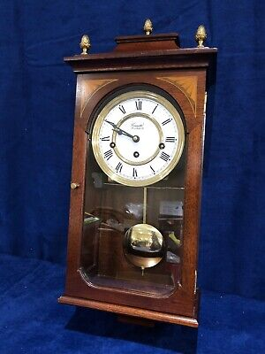 Superb Vintage Comitti London 8Day Mahogany Musical Westminster Chime Wall Clock