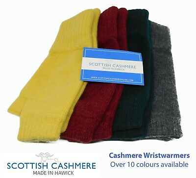 Pure Cashmere Wristwarmers - Made in Hawick, Scotland