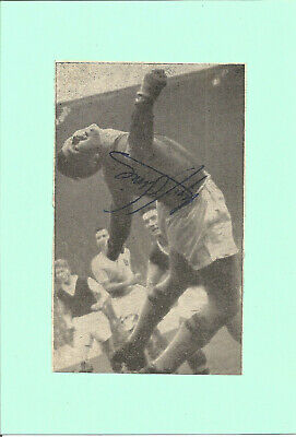 Football Autograph Nigel Simms Signed Picture On Card 11.5cm x 17cm Approx F940