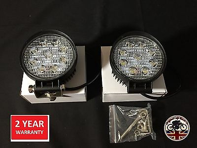 Jeep Land Rover G Wagon x2 Roof Light Spot Lamp 2500 Lumen 4x4 Truck 427R