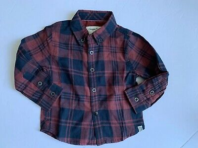 Sovereign Code Kids Baby Boy Infant Button Up Size 12Months Long Sleeve