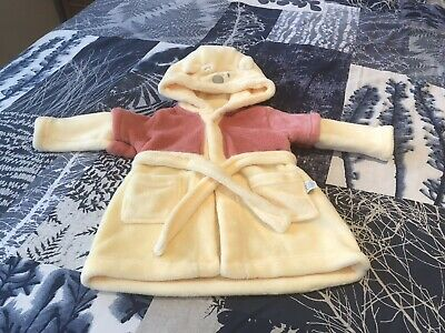 POOH BEAR FLEECE ROBE AGE  6-9MONTHS ~ Yellow Red