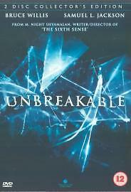 Unbreakable (DVD, 2013)(2 DISC SPECIAL EDITION)