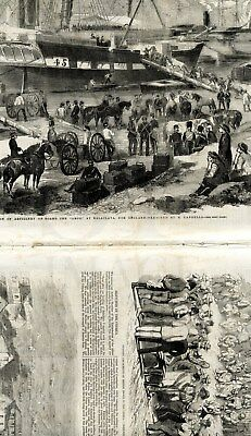 1856 ILLUSTRATED LONDON NEWS Crimea NOTRE DAME PARIS Carmargue France (9200)