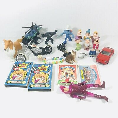 Toy junk drawer lot Vintage items mixed miscellaneous pieces Magical Radio Papo