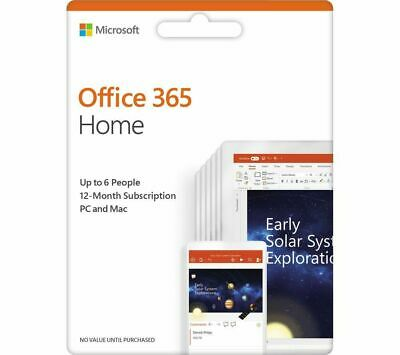 MICROSOFT Office 365 Home - 1 year for 6 users