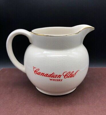 Vintage WADE England Pottery Canadian Club Whisky Water Jug