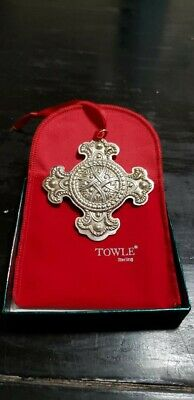 2000 TOWLE 1st Edition Celtic Series Sterling Silver Christmas Ornament