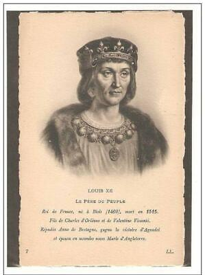 King of France Louis XII 1462-1515 House of Valois-Orléans,Unused Post Card !!