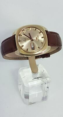 Vintage Seiko 5 Automatic 21 Jewels Watch Japan 6119-7200 Gold Tone Day,Date