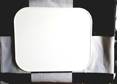 NUMBER PLATE Vintage Oval MX Style 9x11 Moto-Cross Retro Cafe WHITE Maier 509921