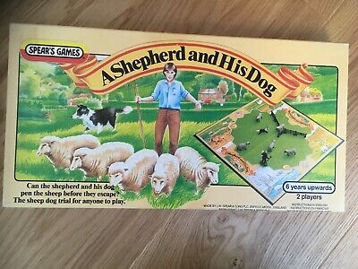 Vintage A SHEPHERD AND HIS DOG Board Game by SPEAR'S GAMES - 1983 - Complete