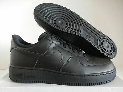 Nike Mens Air Force 1 Low 07 Size 10 Triple Black Leather 315122 001 AUTHENTIC
