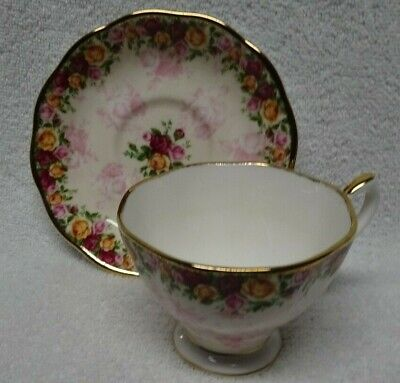 Royal Albert Old Country Roses Peach Damask Cup and Saucer