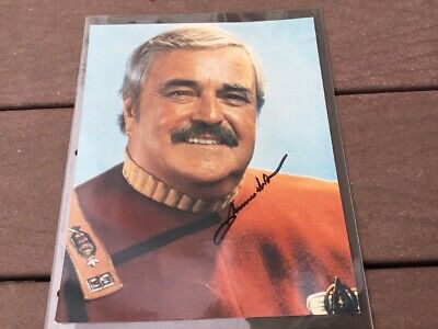 James Doohan Star Trek Scotty Autograph Hand Signed 8x10 Photo