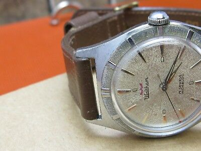 Waltham vintage men's watch 17 jewels fluted bezel good running Classic