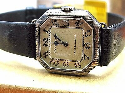 Tiffany & Co. antique watch 15 jewels made by Longines sterling silver