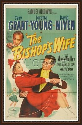 THE BISHOP'S WIFE C. GRANT  Rcrc-POSTER/REPRO A3+(*) d'1 AFFICHE VINTAGE (BF*)