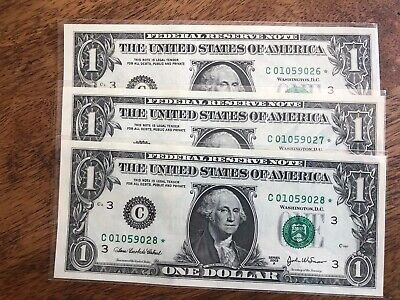 5 2003a $1 FEDERAL RESERVE *STAR* Notes Philadelphia District UNC/& Consecutive