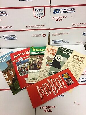 VINTAGE Travel brochures LOT 1970s North CAROLINA VIRGINIA Others