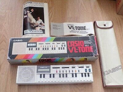 Vintage Casio Vl-Tone Vl1 Electronic Keyboard Computer Synthesizer Boxed-Ex Cond