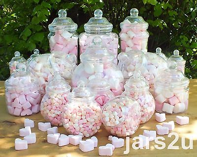 WEDDING BUFFET 19 Vintage Retro Plastic Jars  Sweet Shop Wedding Kids Party Kit