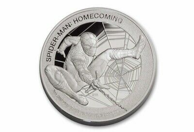 2017 5oz Cook Islands $25 Spider-Man Homecoming PF70 Pure Silver Mercanti Coin
