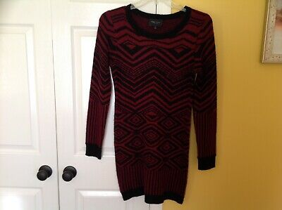 97988b662ad Romeo   Juliet Couture Open Knit Sweater Dress Size Large Red black