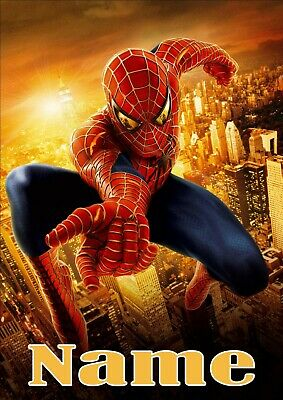 Personalised Spiderman Poster A4 Print Laminated